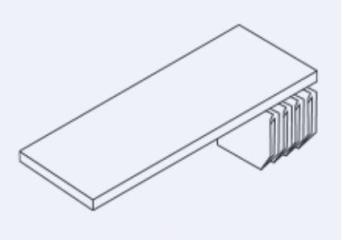 ET406SHPS -  Fachboden mit Lateralhängevorrichtung