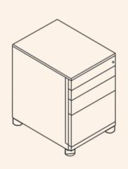 OBA73F1CCEH / OBA73F2CCEH -  Bisley Standcontainer OBA,  Preview Image